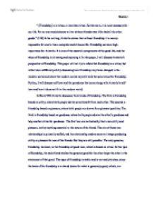 nicomachean ethics friendship essay
