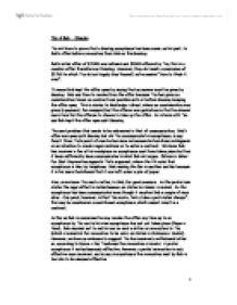 Ministry of truth descriptive essay