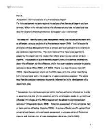 Presentence investigation report