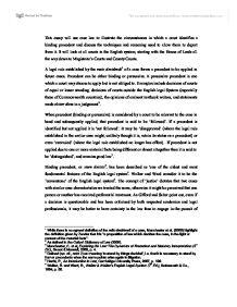 Essay: The Doctrine of Precedent