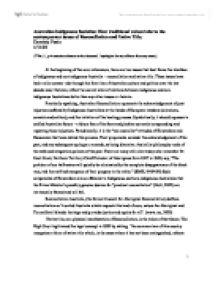 Autralian reconciliation essay
