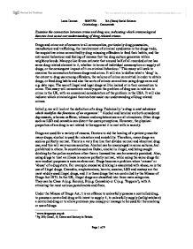 Drug related crime essay
