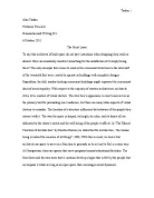 Essay front page