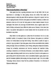 Argumentative essay video games beneficial or detrimental