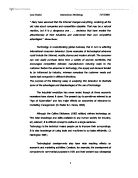 Communications technology essay