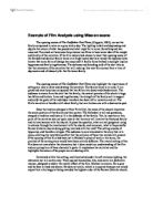 film studies essay gladiator university media studies  marked