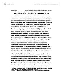 Success of reconstruction essay 1865