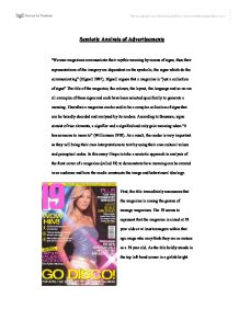 semiotic analysis of advertisements university media studies page 1 zoom in