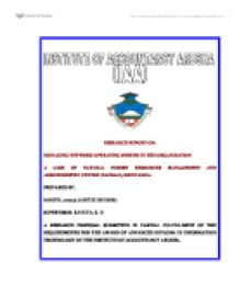 Network operating system essay