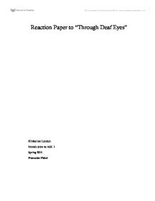 essays through deaf eyes