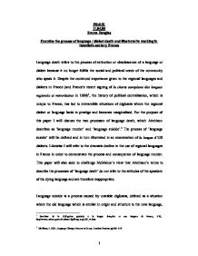 essay perception university social studies marked by  dialects essay