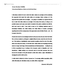 international relations essay university social studies marked  page 1 zoom in