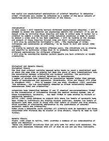 is criminal behaviour inherited or learned essay Conclusion this essay has only just begun to skim over the causes of criminal behaviour as it can be seen it would be difficult to credit one theory for the explanation of crime, but what we do know and can confirm, is that there is a continual interaction between both genetic an environmental factors they are functionally interdependent.