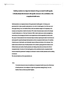 Thesis Statement For An Argumentative Essay  Essay On How To Start A Business also Compare And Contrast Essay Examples High School Health Promotion  Essay Research Paper Example  November  Library Essay In English