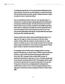 chronic illness essay Essay on chronic diseases chronic disease risk assessment i decided to complete my health risk assessment on the chronic disease colon cancer.