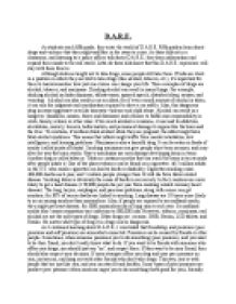 Dare Essay Examples D A R E Report On My Experience Of And Anti