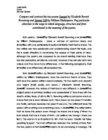 comparing poems essay co comparing poems essay