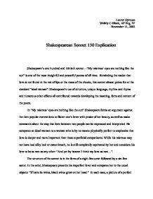 sonnet analysis essay example
