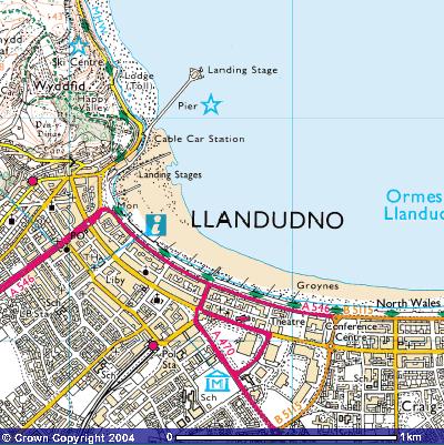 Map Of Llandudno Llandudno fieldwork   GCSE Geography   Marked by Teachers.com
