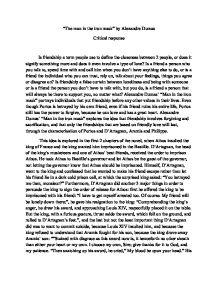 Critical Response Example Essay